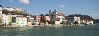Passau, old town on the river Inn