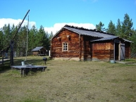 Open air exhibition of Siida Sami museum in Inari, Finland