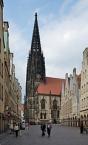 Münster, Lambertikirche vom Prinzipalmarkt