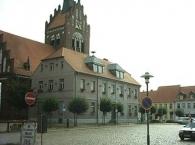 Usedom, Rathaus und Stadtkirche