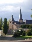Fulda, Michaelskirche vom Domplatz aus gesehen