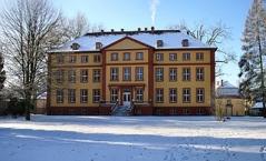 Schloss Hallenburg im Schlosspark in Schlitz