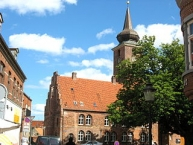 The old abbey church ʺKlosterkirkenʺ in the town ʺNykøbing Falsterʺ