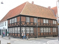 The old tavern ʺCzarens Husʺ in the town ʺNykøbing Falsterʺ