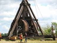 A ʺblideʺ (Trebuchet) at the museum ʺMiddelaldercentretʺ located close to the town ʺNyk