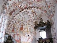 Frescos of the church ʺFanefjord Kirkeʺ