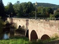 Die alte Brücke über die Fränkische Saale in Euerdorf
