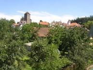 Týnec nad Sázavou, Centre of the town as seen from the northwest.