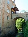 Chateau bridge in the village of Dírná