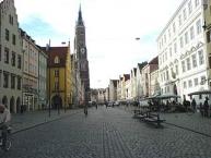 Öandshut, Fußgängerzone Altstadt mit St. Martin