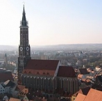 Landshut, Martinskirche vom Hofberg