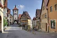 Rothenburg ob der Tauber, Plönlein mit Sieberstor und Kobolzellertor