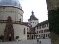Würzburg, Festung Marienberg, Teilansicht im Inneren der Festung