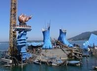 """Bühnenbild zur """"Aida""""-Produktion der Bregenzer Festspiele, 2009"""