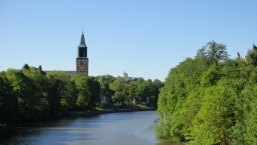 Aura River and Turku Cathedral