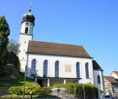 Blick aus Süden auf die ref. Kirche in Rheineck