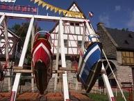Freilichtmuseum Bad Sobernheim, (von rechts) die Häuser, Enkirch, Zell Merl, Kelterhaus Bruttig