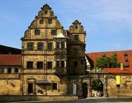 Bamberg - Alte Hofhaltung - Fassaden am Domplatz