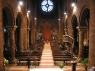 Interior of the cathedral in Modena