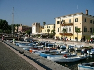 Promenade in Bardolino with Town Hall