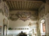 Castello di torregalli, salone con affreschi di baccio del bianco