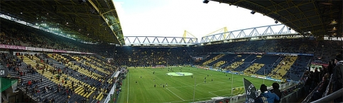 Panoramic view of the Signal Iduna Park, Dortmund