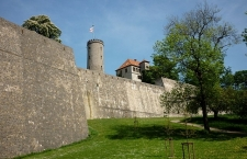 Sparrenburg, Festungsmauer mit Bergfried