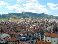 The old town of Bilbao seen from Begoña