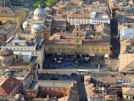Parma, Piazza Garibaldi - at the upper left Chiesa della Steccata and Teatro Regio