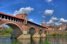 Ponte coperto fi Pavia, lato est