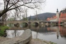 Kallmünz, Naab-Brücke, im Hintergrund Pfarrkirche St. Michael