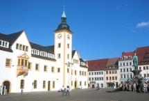 Freiberg, Obermarkt mit Rathaus