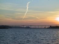 Svendborgsundbroen i modlys