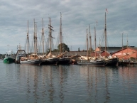Old tall ships in Svenborg harbour