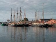 Gamle sejlskibe i Svendborg havn