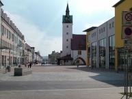 Fürstenwalde, Fußgängerzone vor dem Rathaus
