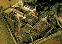 Arial view of the Gardens of la Chatonniere