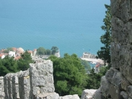 Nafpaktos, view of the harbor from the castle