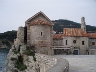 Churches in the old Town of Budva