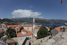 View on the roofs of the old town of Budva