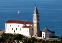 Piran, Church of Saint George, with a Franciscan monastery