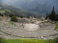 The Theatre of Delphi from above