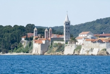 The typical skyline of Rab is formed by four towers and the fortification of the town