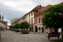 Ljudevit Gaj street in Varaždin view towards south