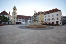 Hlavné námestie (literally ʺMain Squareʺ) in Bratislava