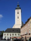 Grein, Marktplatz und Pfarrkirche Sankt Ägidius