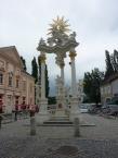 Johannes-Nepomuk-Statue auf dem Rathausplatz Stein