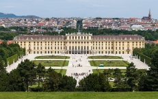 Schloss Schönbrunn von der Gloriette aus