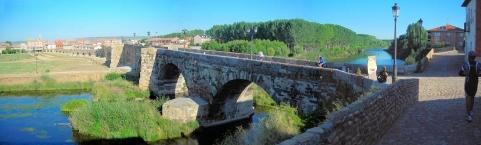 Medieval bridge located at Hospital de Órbigo