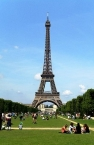 Eiffel Tower, seen from the Champ de Mars, Paris